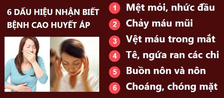 6 dấu hiệu nhận biết bệnh cao huyết áp