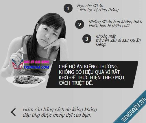 Ăn kiêng giảm cân không hiệu quả