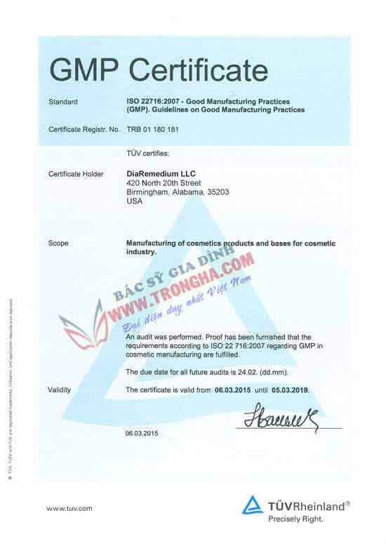 GMP ISO 22716 2007