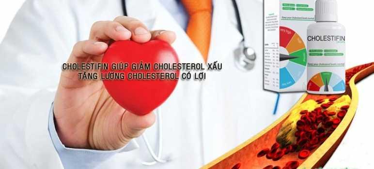Cholestifin phòng chống bệnh tim mạch hiệu quả