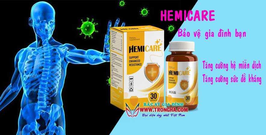 Hemicare tăng cường hệ miễn dịch bảo vệ gia đình bạn