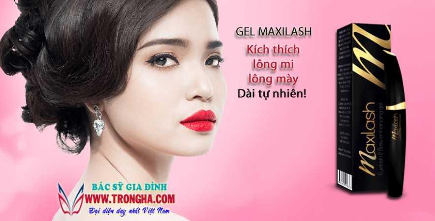 Maxilash hoạt chất kích thích lông mi và lông mày mọc dài tự nhiên