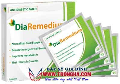 miếng dán DiaRemedium điều trị bệnh tiểu đường hiệu quả