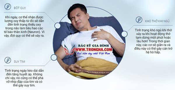 mối nguy hiểm của ngáy ngủ