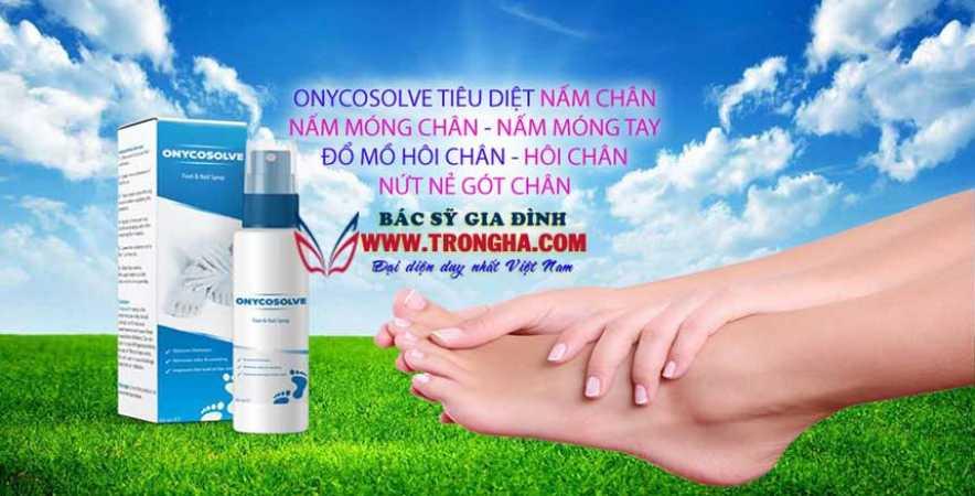 OnycoSolve điều trị nấm chân, nấm móng dứt điểm