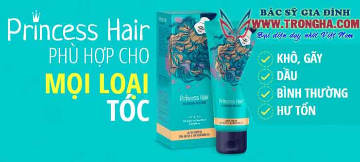 Princess Hair cho mái tóc dày óng ả mượt mà