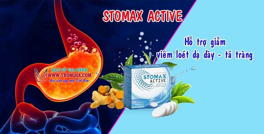 Stomax active giảm viêm loét dạ dày - tá tràng