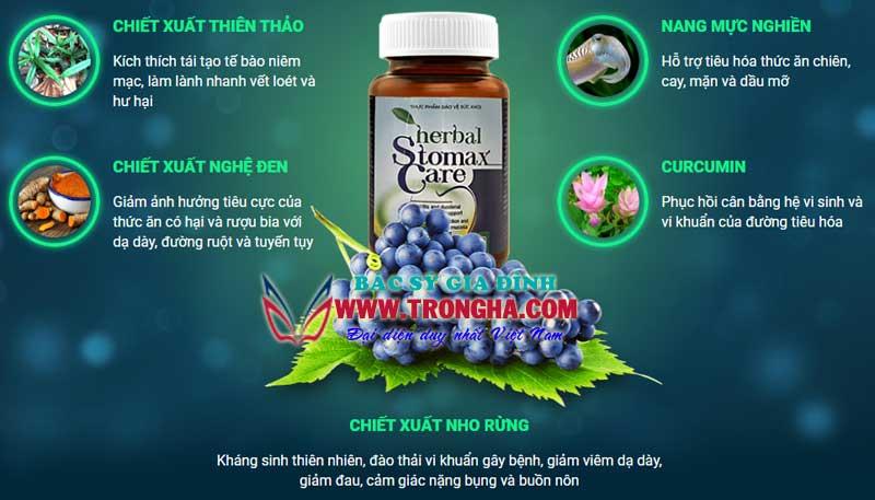 Thành phần thuốc stomaxcare